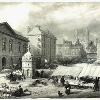 I) The Fire of 1849 in Market Square