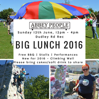 Illustration: Big Lunch on Sunday 12th June - Community Gathering with Singing and Kite Making!