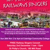 Event: Railway Singers Concert at Mill Road Winter Fair 2nd December