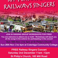 Railway Singers Concert at Mill Road Winter Fair 2nd DecembET