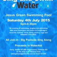 Illustration: Sing & Swim!  Sat 4th July 6pm onwards.