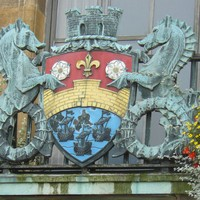 Cambridge Coat of Arms: SEA HORSES