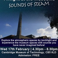 Illustration: 'Twilight at the Museum: Sounds of Steam' at Cambridge Museum of Technology CB5 8LD